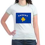 Kosovo Flag Jr. Ringer T-Shirt