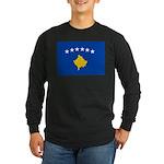 Kosovo Flag Long Sleeve Dark T-Shirt