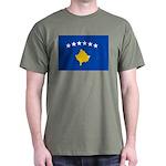 Kosovo Flag Dark T-Shirt