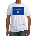 Kosovo Flag Fitted T-Shirt
