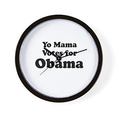 Yo mama votes for Obama Wall Clock