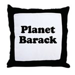 Planet Barack Throw Pillow