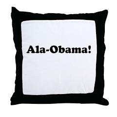 Ala-Obama Throw Pillow