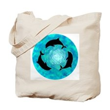 Ring of Dolphins Tote Bag