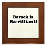 Barack is Barilliant Framed Tile
