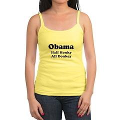 Obama / Half Honkey All Donkey Jr.Spaghetti Strap