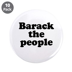 """Barack the People 3.5"""" Button (10 pack)"""