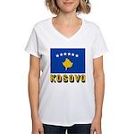 Kosovo Women's V-Neck T-Shirt