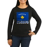 Kosovo Women's Long Sleeve Dark T-Shirt