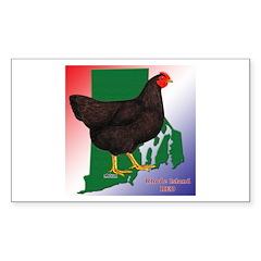 Rhode Island State Bird Rectangle Sticker