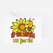 Un-Bee-Lievable 100th Greeting Card