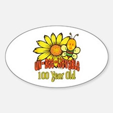Un-Bee-Lievable 100th Oval Decal