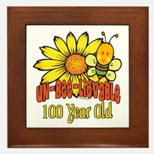 Un-Bee-Lievable 100th Framed Tile