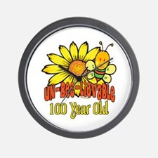 Un-Bee-Lievable 100th Wall Clock