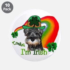 "St. Pats Miniature Schnauzer 3.5"" Button (10 pack)"