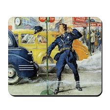 Vintage Traffic Cop Mousepad
