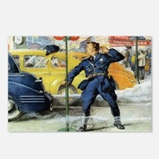 Vintage Traffic Cop Postcards (Package of 8)