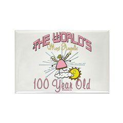 Angelic At 100 Rectangle Magnet (100 pack)