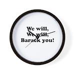 We will Barack you Wall Clock