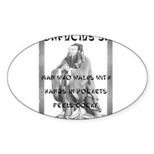 Cocky Confucius Oval Decal