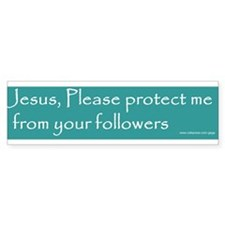 Jesus please protect from followers Sticker AQUA