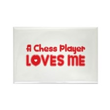 A Chess Player Loves Me Rectangle Magnet