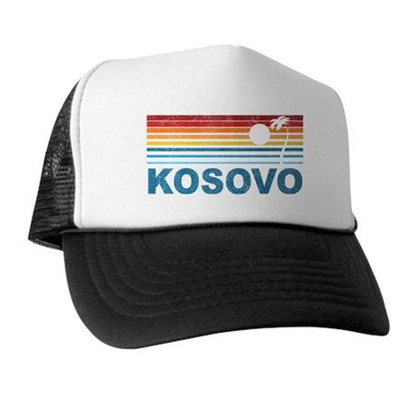 Palm Tree Kosovo Trucker Hat