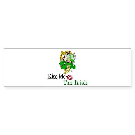Kiss Me, I'm Irish Bumper Sticker