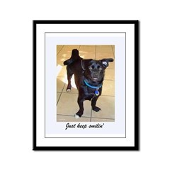 Smilin Dog Framed Panel Print