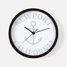 Summer newport- california Wall Clock
