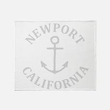 Summer newport- california Throw Blanket