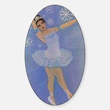 Snow Princess Ballerina Oval Decal