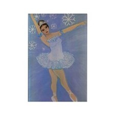 Snow Princess Ballerina Rectangle Magnet