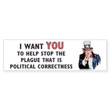 IWY political correctness Bumper Bumper Sticker