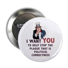 """IWY political correctness 2.25"""" Button (100 pack)"""