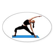 Yoga Stretch Oval Decal