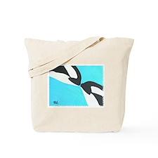 Kissing Killer Whales Tote Bag