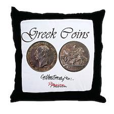 Greek Coins Throw Pillow