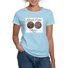 Greek Coins Women's Pink T-Shirt