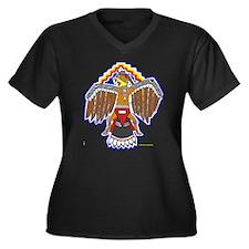 MOUNDBUILDERS Women's Plus Size V-Neck Dark T-Shir