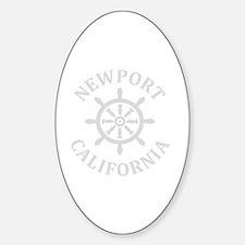 Cute Newport beach Sticker (Oval)