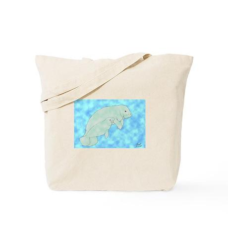 Manatee & Calf Tote Bag