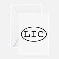 LIC Oval Greeting Card