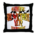 Are we there yet Throw Pillow