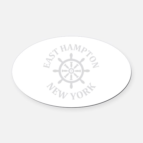 Hamptons Oval Car Magnet