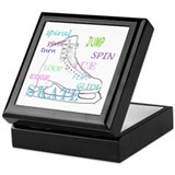 Ice skating Keepsake Boxes