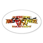 Are we there yet Oval Sticker