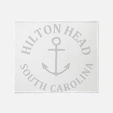 Summer hilton head- south carolina Throw Blanket