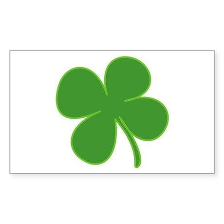 Shamrock Rectangle Sticker