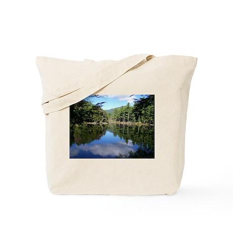 New England Lake Reflection Tote Bag